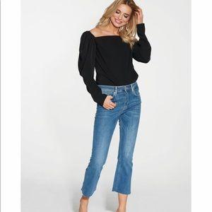 Maare Clothing Black Puff Long Sleeve Top Sz XS